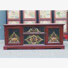 1950 chest of drawers China pine sideboard painted paneled front -consuming
