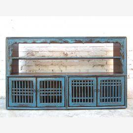 Asia around 1910 Sideboard shelf grille azure pine
