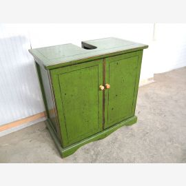 China Washbasin Vanity unit Pine high gloss green Skirting board