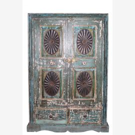 India cabinet Highboard Antique Poly Color