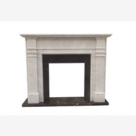 Marble fireplace, fireplace mantel made to measure solid marble K135