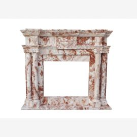 Individual facade colorful marble fireplace store mantel fireplaces Style fireplace