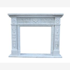 Fireplace facade marble fireplace fireplaces Classicism style white fireplace surround framing
