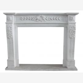 White Marble Fireplace mantel fireplaces slim style fireplace surround fireplace mantels