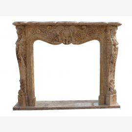 Fireplace mantel natural stone marble fireplaces Baroque style facade fireplace framing