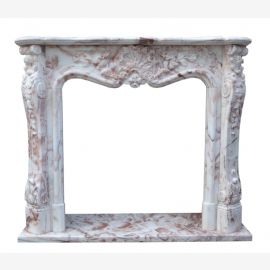 Colorful marble fireplace fireplaces Baroque style border prices fireplace framing