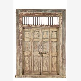 Traditional Indian wooden door with frame