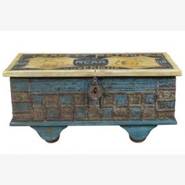 TEAK WOOD Chest IndiaBlue from antique Baulelemten