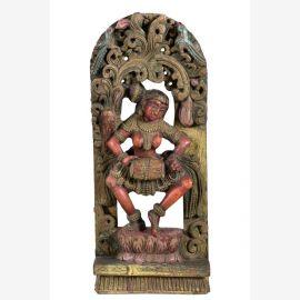 Indian wooden figure original from Goa