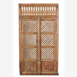 Indian teak wood door with an unusual frame