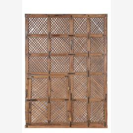 Large lattice window of light teak in Indian style