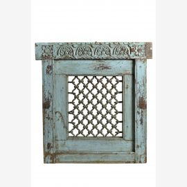 Real Indian Jali window in turquoise