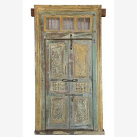 Wooden door with fine carvings from India