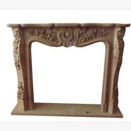 Baroque style surround FIREPLACE 1,5 x1 , 2m quality marble solid color ocher D Heb 15