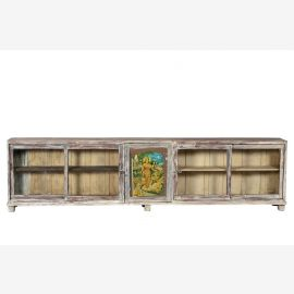 India 1910 300cm shop counter display cabinet shabby chic credenza 3m long Gujarat