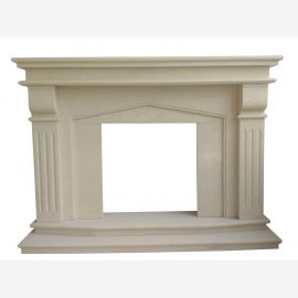 Classic marble fireplace carved from full stone