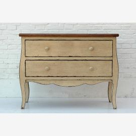 Biedermeier chest of drawers China white pine wood vintage look
