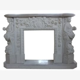 "Fireplace marble ""custom-made"" model Nice"