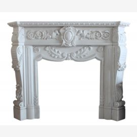 "Fireplace marble ""custom-made"" model Troyes"