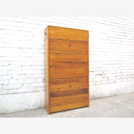 China shoe closet dresser honey-colored natural wood, country-style