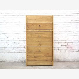 China shoe closet dresser natural color timber country style