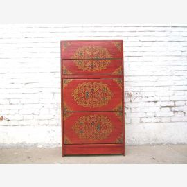China Shoe cabinet different red Floral beauty