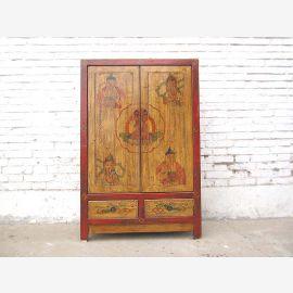 China semi-high chest of drawers Beige 2 Tone