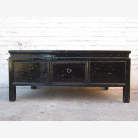 China Lowboard Table base finish black colonial pine