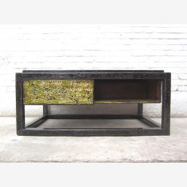 Asia Table base shabby chic black and green pine