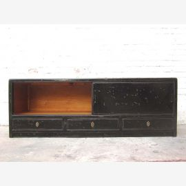 Asia colonial dresser TV Lowboard black lacquer by Luxurypark