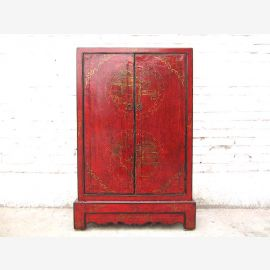 China slender half-height CD-dresser cabinet Red Pine
