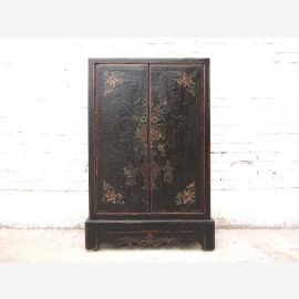 China slender half-height CD-dresser Cabinet black pine