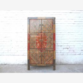 China semi-high dresser traditional filigree painted pine