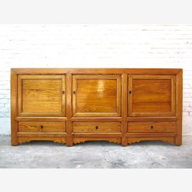 China wide sideboard dresser natural brown country-style pine
