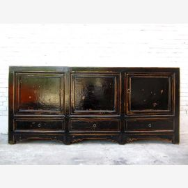 Asia large dresser sideboard painted black colonial pine