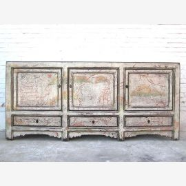 China wide sideboard dresser stain white shabby chic pine