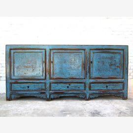 Asia wide dresser sideboard 200cm antique azure shabby chic
