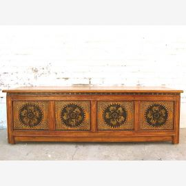 TV chest of drawers lowboard in yellow
