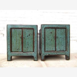 China Chest of drawers Vintage blue