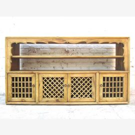 Asia 1900 Sideboard shelf grille country-style bright pine