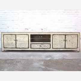 China very broad Lowboard TV dresser stain white shabby chic