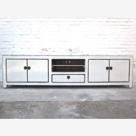 Asia very broad Lowboard TV dresser paint luminous white pine