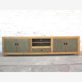 China ultra wide TV dresser Lowboard zartblau Flat Panel body wood doors