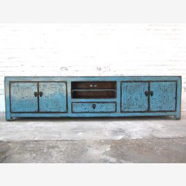 Asia wide TV dresser Lowboard 200cm azure shabby chic