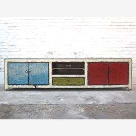 Asia large colorful Lowboard TV shabby chic dresser Special