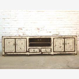 China TV dresser Lowboard Flat Panel dirt white shabby chic heavy used