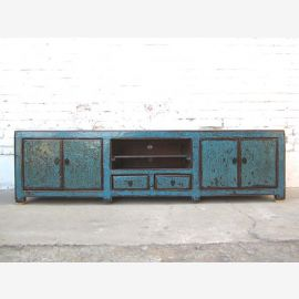 China cyan TV dresser Lowboard Flat Panel used heavy vintage look