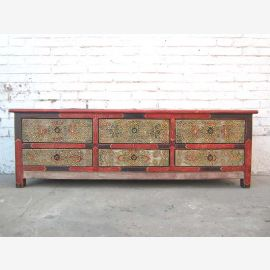 China TV dresser Lowboard delicate Flat Panel antique hand painting