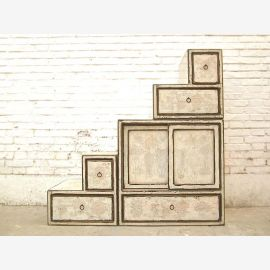 China small steps dresser drawers vintage style antique white