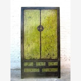 Asia large closet dirt green heavy used pine finish